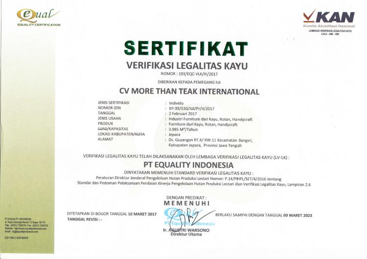 SVLK Certification